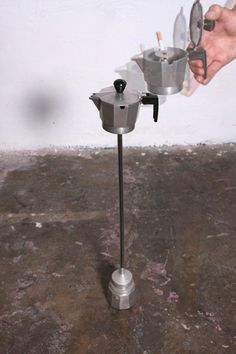 Coffee maker ashtray in metals accessories with Coffee cigarette Ashtray