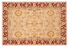 Beatrice Rug, Ivory/Red   Year-End Sale   One Kings Lane