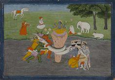 The Churning of the Sea of Milk (Avatar of Vishnu)