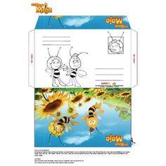 Bastle dein eigenes Biene Maja Briefkuvert. Noch viel mehr tolle Bastelvorlagen findest du hier: http://studio100.de/fur-zu-hause/basteln/