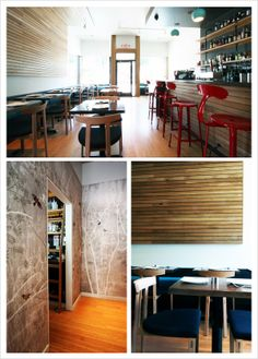 Modern interior by Bright Designlab for Songbird Neighborhood Eatery, Portland. Photo © Bright Designlab