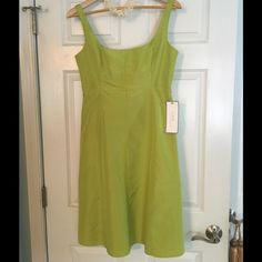 J. Crew Special Occasions Silk Dress New With Tags Gorgeous green silk special occasion dress by J. Crew.  Completely lined and has layers of tulle at the bottom, as shown in the photo.  Zipper at back of the bodice.  Size is Petite 8.  New with tags. J. Crew Dresses