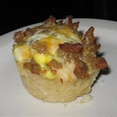 Breakfast Pies.  Made with biscuits.  Could replace with turkey sausage.  Might be a good early tailgate food too!