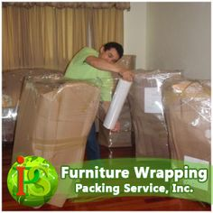 Furniture Wrapping, Palletizing, Shrink Wrapping, Packaging Services, Packing and Shipping. www.PackingServiceInc.com 888-722-5774