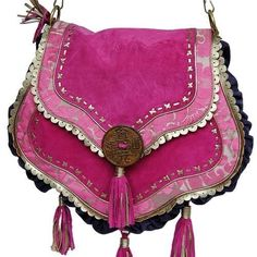 Love the colour! Hippy Peace Bag (pink) by Believes Bags  Link: http://www.believesbags.com/
