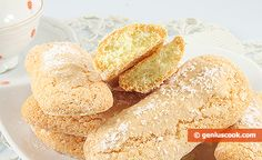 The Recipe for Savoiardi Cookies Healthy Nutrition, Healthy Cooking, My Favorite Food, Favorite Recipes, Sponge Cake, Simple Recipes, Cake Batter, Corn Starch, Baked Goods