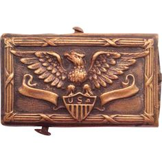 WWI U.S. Belt Buckle Shield & Eagle