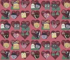 Anti-Valentines fabric by heidikenney on Spoonflower - custom fabric