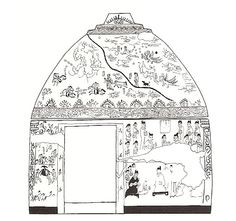 goguryeo tomb mural | diagramof the goguryeo tomb chilseok mural featuring jingnyeo and ...