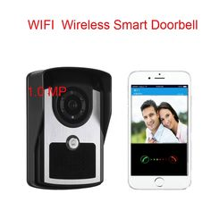 76.52$  Watch now - http://alizkq.worldwells.pw/go.php?t=32696850098 - Free Shipping WiFi Wireless Smart Video Doorbell Phone intercom Peehole Camera Remote Unlock  home Alarm Android IOS Smart Home 76.52$