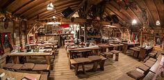 Austrian: Christmas celebration in the 100 year old mountain hut at the Christmas village Old AKH
