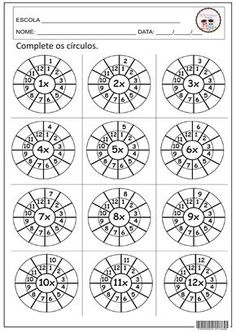 Multiplication Times Tables Worksheets – 6 & 7 Times Tables – Six Worksheets / FREE Printable Worksheets Free Printable Worksheets, Kindergarten Worksheets, Preschool Kindergarten, Maths Worksheets For Kids, Tracing Worksheets, Printables, Times Tables Worksheets, First Grade Worksheets, Third Grade Math