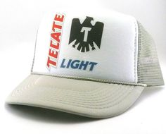 Tecate light beer Trucker Hat Mesh Hat Snap Back Hat de8e381454cc