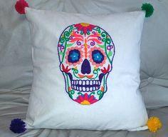 Almohadon Bordado a mano pedilo en www.facebook.com/LupitaBordados Facebook, Embroidered Pillows, Hand Embroidery, Hands