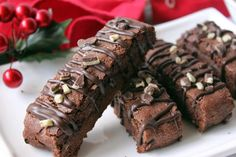 This is the basic chocolate biscotti recipe that I have that is so full of chocolate flavor, only this variation add a touch of mint to make it more decadent!