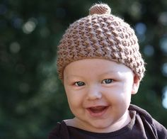 Free knitting pattern: Acorn Cap for Babies