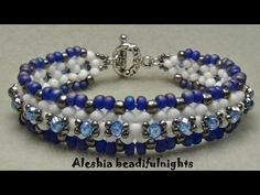 Lattice Beaded Bracelet Tutorial - YouTube