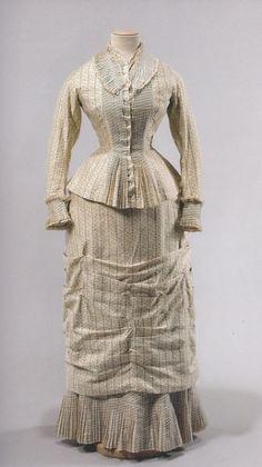 "ephemeral-elegance: ""Cotton Summer Day Dress, ca. 1878-79 """