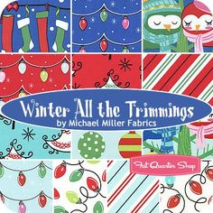 Winter All the Trimmings Fat Quarter Bundle<BR>Michael Miller Fabrics
