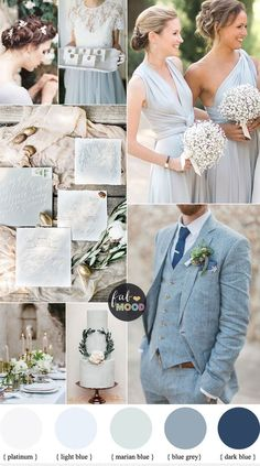 Light Blue Grey Wedding - you can even get a charming old world vibe. Textured light grey invitations with wispy white calligraphy, lots of flowy light blue