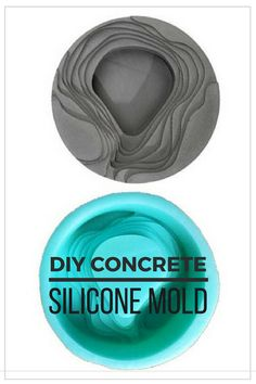 Cool reusable silicone mold to make this architectural concrete ashtray. I would also use as a desk organizer or an air plant holder. Nice modern design. #ad #concrete #siliconemold #ashtray #architectural #flowerpot #planter #airplantholder #homedecor #diy #cement #terrace