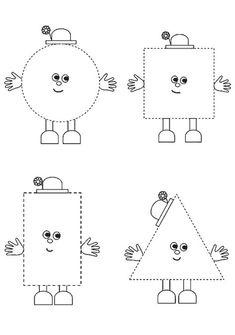 Pracovný list údajov okulöncesit je-škôlka Shape Activities Kindergarten, Shape Worksheets For Preschool, Kindergarten Coloring Pages, Shapes Worksheets, Preschool Writing, Preschool Learning, Kindergarten Worksheets, Math For Kids, Activities For Autistic Children