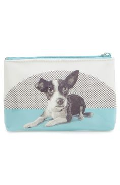 Main Image - Catseye London Etched Dog Small Zip Pouch