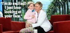 Elias on being back to visit Ellen