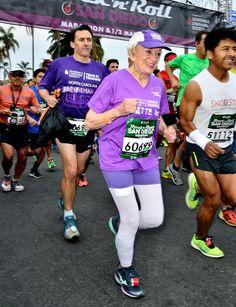 91-Year-Old Breaks 2 Records at San Diego Marathon - NBC News #MotivationMonday