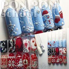 #Christmas nail art http://hubz.info/113/stunning-wedding-nail-art-desgins