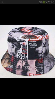 vintage hat bucket hat tupac magazine cover hat hip-hop rappers