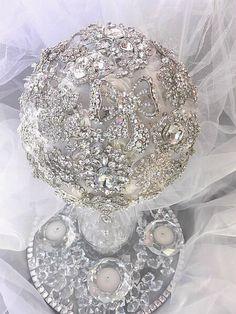AB Crystal Brooch Bouquet