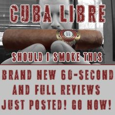 BRAND NEW 60-SECOND FULL REVIEWS JUST POSTED at #ShouldISmokeThis on #YouTube!! ..get over there.. #cigar #cigars #CigarPorn #CigarLife #CigarClub #botl #NJ #CigarReview #CigarReviews #CubaLibre #igdaily #InstaGood #BestOfTheDay #followme by shouldismokethis