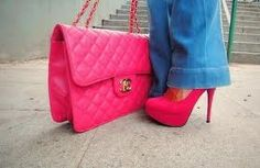 Love when shoes and purse match..Pink :-)