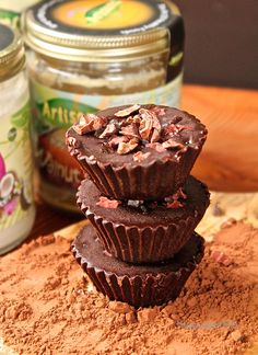 Raw Chocolate Pecan Butter Cups | The Sweet Life