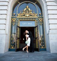 Getting married at City Hall San Francisco, just like Marilyn Monroe and Joe DiMaggio. (Photo courtesy of Rebecca Wilkowski Photography.)