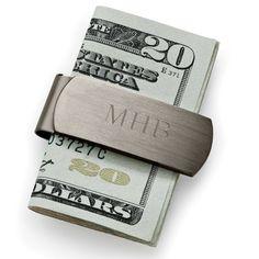 Engraved Gunmetal Money Clip for Groomsmen   Groomsmen Gifts