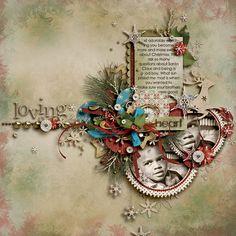 #scrapbook inspiration Christmas - beautiful clustering!