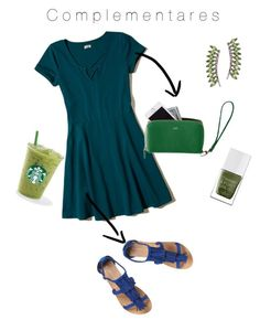 """""""Sem título #3"""" by larissagallao on Polyvore featuring moda, Hollister Co., Mark & Graham, Dorothy Perkins, The Hand & Foot Spa e Sidney Chung"""