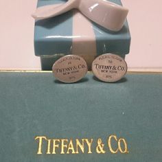 Tiffany&co sterling silver RTT Cufflinks Tiffany&co sterling silver 925 RTT Men's Cufflinks  vintage, well loved and still lots of life let in these baby's. Tiffany&co  Jewelry
