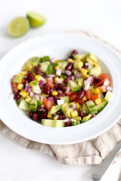 Mexicaanse salade Clean Eating Guide, Clean Eating Diet, Healthy Eating, Healthy Food, Veggie Recipes, Mexican Food Recipes, Salad Recipes, Healthy Recipes, Diner Recipes