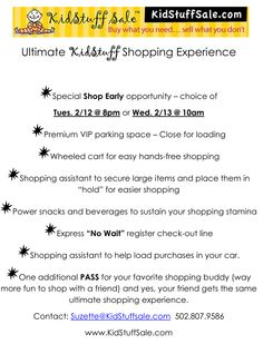 Enter to win the Ultimate KidStuff Shopping Experience at our So. Indiana Event - winner shops Feb 12th or 13th public sale begins Feb 14-16, 2013