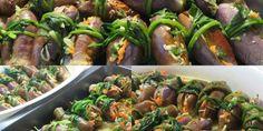 Τουρσί μελιτζανάκι – TrikalaView Sprouts, Green Beans, Vegetables, Food, Essen, Vegetable Recipes, Meals, Yemek, Veggies