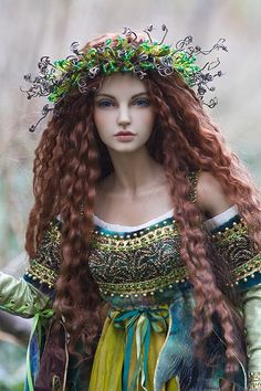 """Brygid, Goddess of Spring"" by M. Boers.  This doll is everything I wish _I_ could do in a doll.  I am in awe of this artist's skill."
