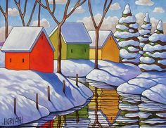 Art Print Winter Snow Giclee by Cathy Horvath 5x7