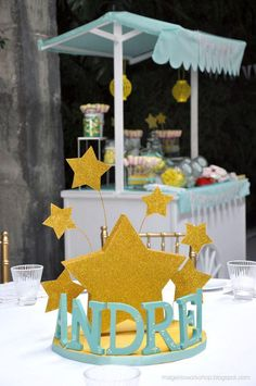 Aqua and Yellow Ice Cream Party, Kara's Party Ideas