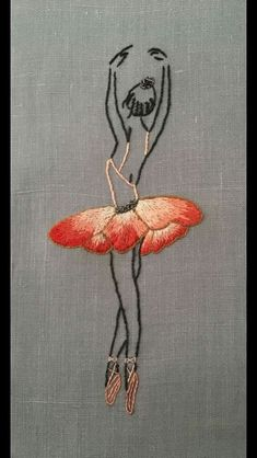 Brand New 10 Piece iron on appliqués assorted embroidered ballet Ballerina patch