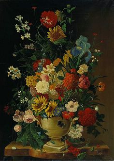 Unknown (European) | Still Life with Flowers in a Vase, 19th century