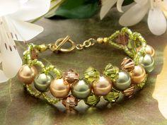 Golden Grace Bracelet - what a pretty color combo