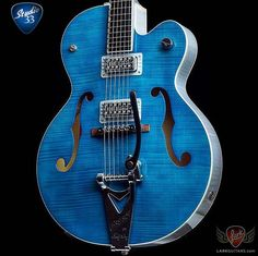 #MondayBlues? This should help. A #Gretsch #BrianSetzer G6120SH in Harbor Blue from @larkguitars #Studio33Guitar